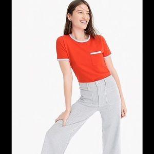 NWT J Crew slub cotton ringer t-shirt! Very Soft😊